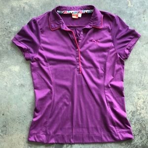 Puma purple golf shirt.